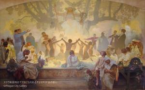 18_スラブ叙事詩 スラヴ菩提樹の下でおこなわれるオムラディナ会の誓い
