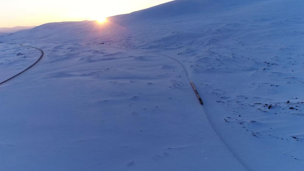 北極圏を走る列車2